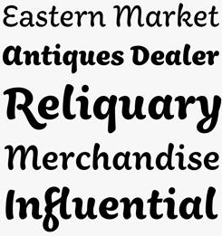 Aisha Latin font sample