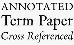 Neacademia Latin font sample