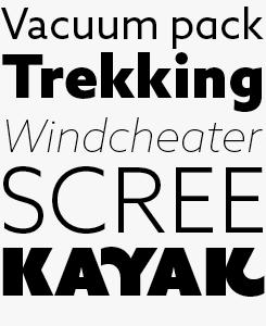 Azo Sans font sample