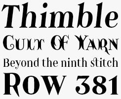 Catacumba Pro font sample