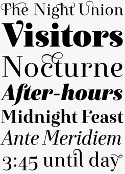 Exquise font sample