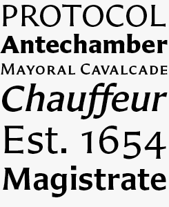 Carter Sans font sample