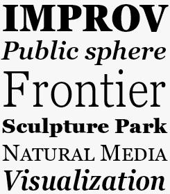 Georgia font sample