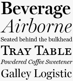 Miller font sample