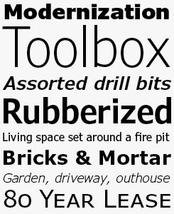 Verdana font sample