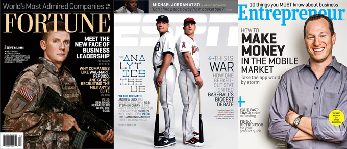Geogrotesque used on magazine covers