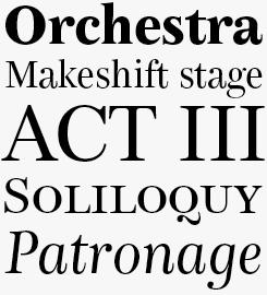 Bohemia LT font sample
