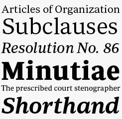Periodico Text font sample