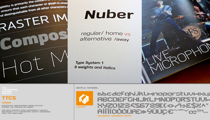 Northern Block typefaces in use