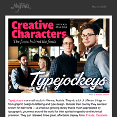Creative Characters interview with Typejockeys, March 2014