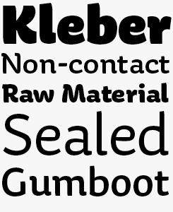Aniuk font sample