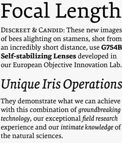 Premiera font sample