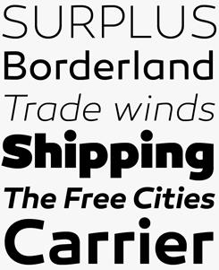 Canaro font sample