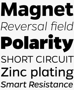Gentona font sample