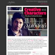Creative Characters Interview with Maximiliano Sproviero