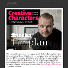 Creative Characters interview with Sascha Timplan, June 2014