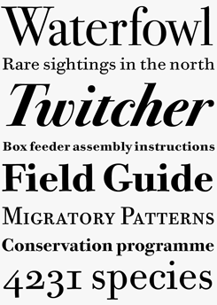 ITC Bodoni font sample
