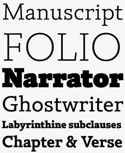 Silica font sample