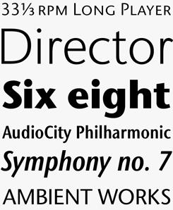 ITC Stone Sans font sample