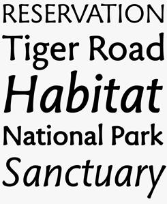 Tuff font sample