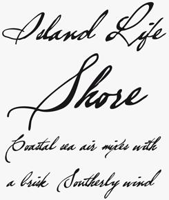 Brev Script font sample