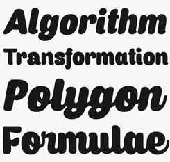 Caprica font sample
