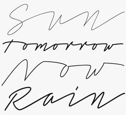 Tamoro Script font sample