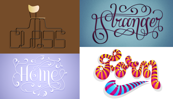 Four Examples Of Grebacks Custom Lettering Please Note These Arent Available To Buy As Fonts