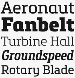 Metronic Slab font sample