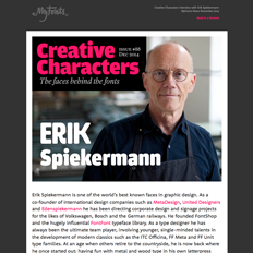 Creative Characters Interview with Erik Spiekermann