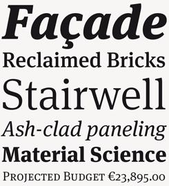 FF Meta Serif font specimen