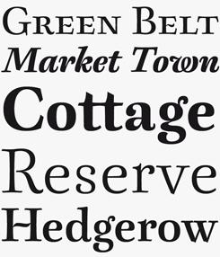 Berenjena font sample
