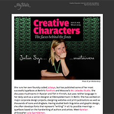 Creative Characters Interview with Julia SysmŠlŠinen