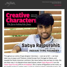 Creative Characters Interview with Satya Rajpurohit