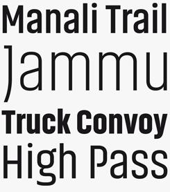 Akhand font sample