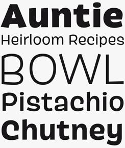 Pancho font sample