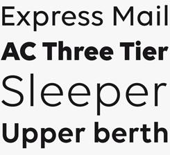 Volte font sample