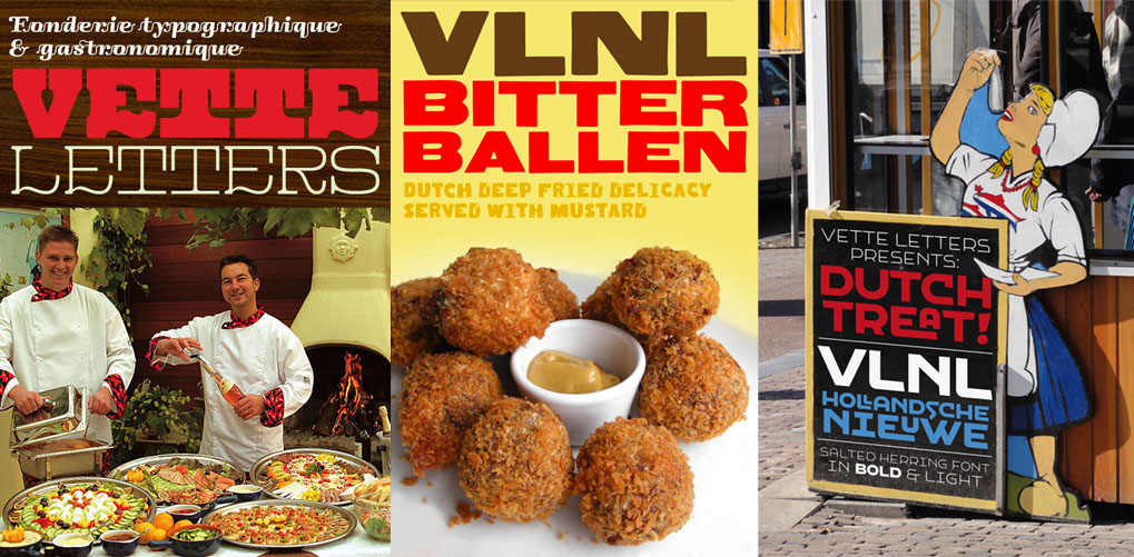 Some of VetteLetters' witty, food-themed advertisements.