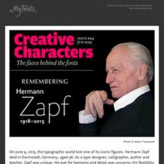 Creative Characters Hermann Zapf in Memorium