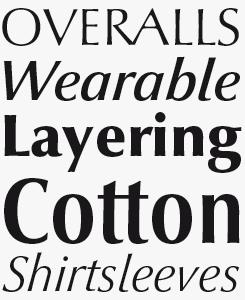 Optima Nova® font sample