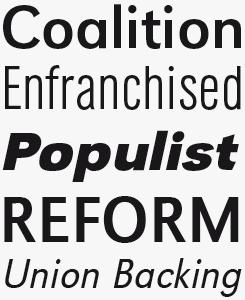 URW Grotesk font sample