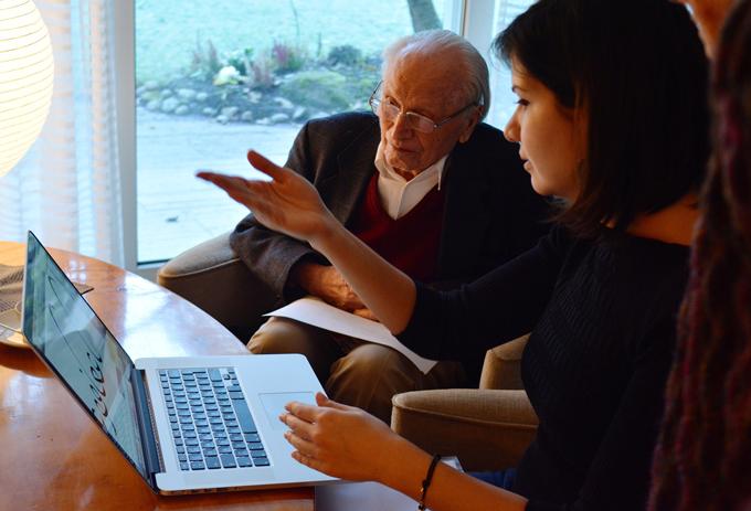Chahine working together with Hermann Zapf