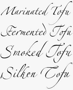 Linotype Zapfino® font sample