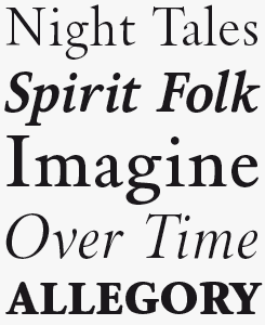 Brigade font sample