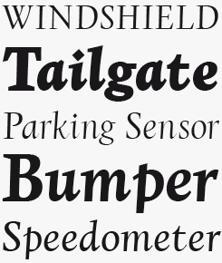 Copacabana font sample