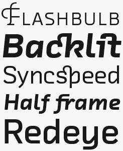 FF Chambers Sans font sample