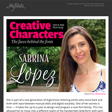 Creative Characters Interview with Sabrina Mariela Lopez