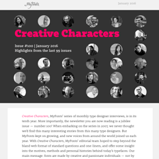 Creative Characters #100: Highlights from the last 99 issues