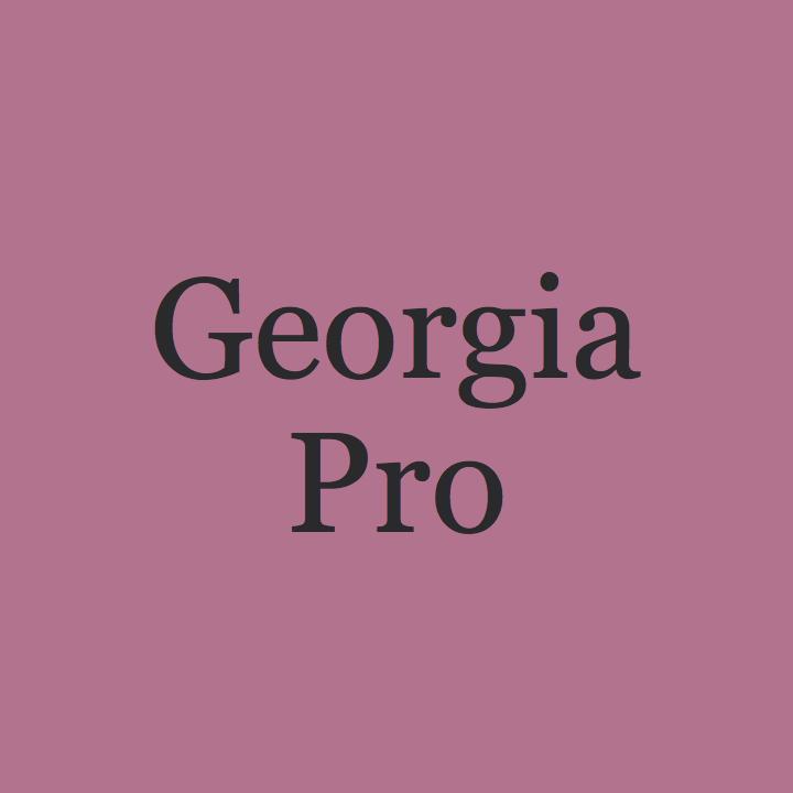 Georgia Pro Poster