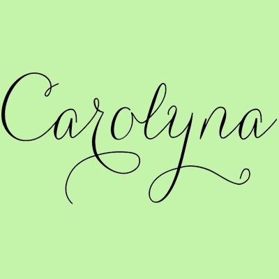 Carolyna Pro Black Poster